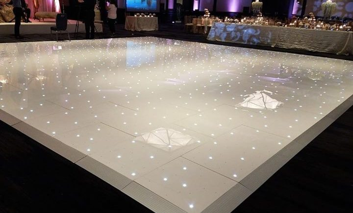 DCViBEZ Reception stage lighting. #dcvibez #djjatin #leduplighting #dcvreception #leddancefloor #dcvibezdjs #dulleswestin