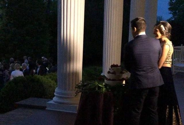 DCViBEZ Reception. #dcvibez #djjatin #fireworks #dcvreception #dcvibezdjs #cakecutting #rosemontmanorwedding