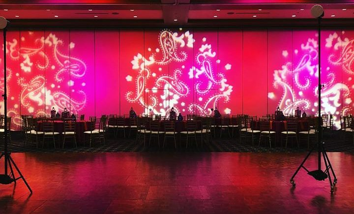 DCViBEZ #Mehndi stage lighting. #dcvibez #djjatin #leduplighting # gobos #dcvreception #dcvibezdjs #lacentrewestlake #cleveland @…