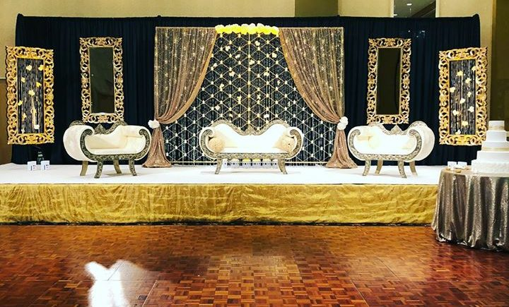 DCViBEZ Reception stage lighting. #dcvibez #djjatin #leduplighting #dcvreception #dcvibezdjs #lacentrewestlake #clevaland @ Westlake, Ohio