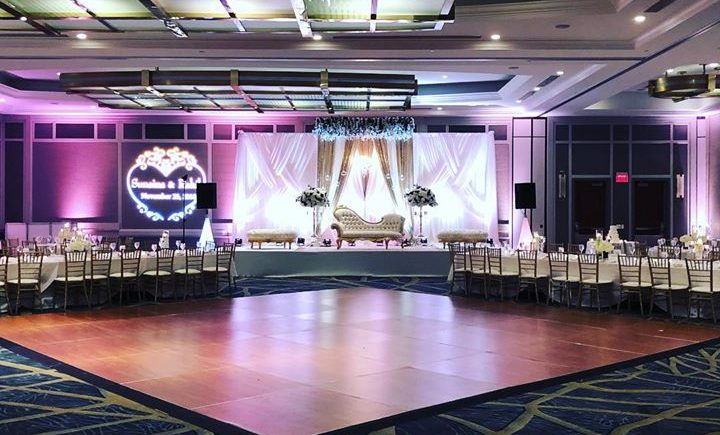 DCViBEZ Mehndi stage lighting. #dcvibez #djjatin #leduplighting #dcvmehndi #dcvibezdjs #hyattregencybaltimore #customgobo @ Hyatt Regency…